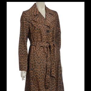 Via Spiga leopard print trench coat